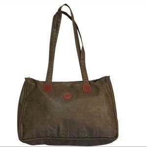 Vintage Fendi Zip Top Shoulder Tote Bag So Pretty!
